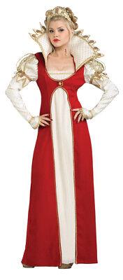Josephine Kostüm Früh 19 Jahrhundert Empire Taille Rd & Weiß Kleid & Kopfschmuck