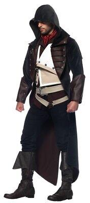Assassins Creed Arno 7 Teile Erwachsene Kostüm Herren Kapuze Halloween - Assassin Creed Kostüm Halloween