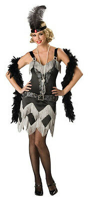 en Kostüm Schwarz Flapper Kleid Incharacter 1069 Halloween (Schwarzes Flapper Halloween-kostüme)