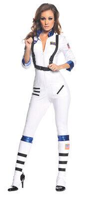 Blast Off Astronaut Adult Womens Costume White NASA Space Aviator Halloween