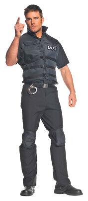 Swat Team Adult Men's Costume Vest Police Officer Cop Halloween](Mens Halloween Swat Vest)