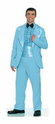 Prom King Costume Adult Standard Light Blue Suit Vintage Tuxedo Retro 70s 80s](80s Prom Costume Men)