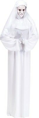 Erwachsene Scary Mary Nonne Weiß Abendkleid Kopfbedeckung Schleier Handschuhe