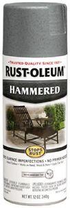 Rust-Oleum 12oz Hammered Gray Enamel Spray Paint 7214-830