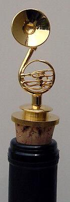 "Sousaphone Tuba handmade brass w//gold plated miniature 3.25/"" Bottle stopper"