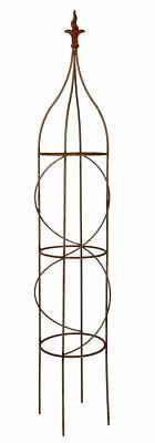 1.75m Rusted Metal Aston Garden Obelisk Plant Support