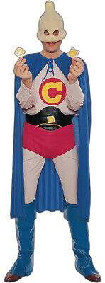 Captain Condom Halloween Costume (Captain Condom Funny Super Hero Halloween Party Adult Humor Mens Costume)