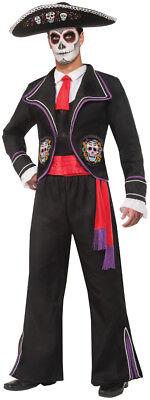 Mariachi Macabre Erwachsene Herren-Kostüm Tag der Toten Halloween