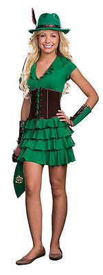 Robyn Da Hood Junior Girls Costume Movie Green Dress Theme Party - Green Themed Halloween Costumes