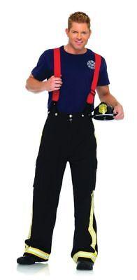 Feuerwehrmann Erwachsene Herren Kostüm Hose mit Reflektierende Trimm Leg (Feuerwehr Hose Kostüm)