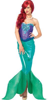 Meerjungfrau Erwachsene Damen Kostüm Deep Sea Sirene Kleine - Kleine Meerjungfrau Halloween Kostüm