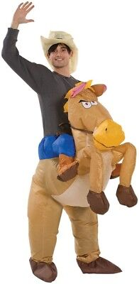 Horse And Rider Costumes (HORSE AND RIDER Inflatable HALLOWEEN COSTUME OS Teen ADULT All Sizes)