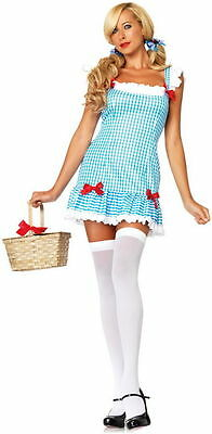 Sexy DOROTHY WIZARD OZ HALLOWEEN COSTUME WIG & BASKET Adult Women MED NEW (Dorothy Oz Costume Adults)
