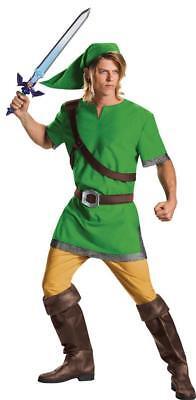 Erwachsene The Legend Of Zelda Link Klassisch 3 Stück Kostüm - Legends Of Zelda Link Kostüm
