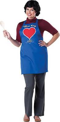 DUCK DYNASTY MISS KAY BLUE APRON RED HEART AND WIG COSTUME IC101103 - Dynasty Costumes