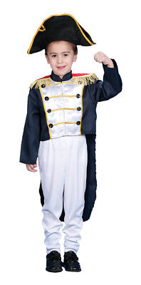 Colonial General Child Boy Costume Solider Halloween Fancy Dress Up (Colonial America Kostüme)