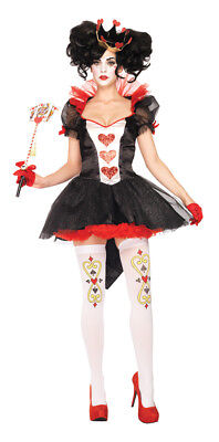 Leg Avenue Royal Queen of Hearts Costume Dress - Queen Of Hearts Dress Up Kostüm
