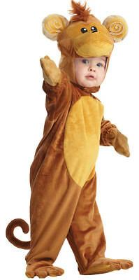 Monkey Little Cute Baby Costume Hooded Jumpsuit Halloween Underwraps - Little Monkey Halloween Costume