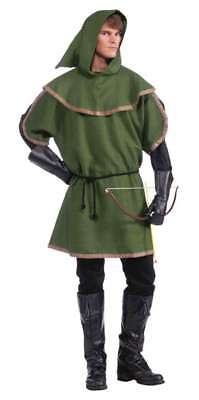 Robin Hood Tunic (Robin Hood Sherwood Forest Archer 3 Pc Green Tunic & Hood & Cord Belt)