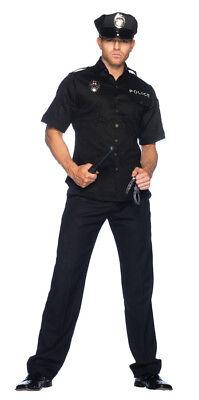 Police Officer Cop Adult Costume Shirt Handcuffs Baton Leg Avenue halloween