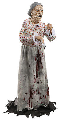 Halloween LifeSize CREEPY KILLER GRANNY BATES Non Animated Prop Haunted House