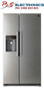 DAEWOO 608 Litre Side by Side Fridge Ice & Water Dispenser- Non P Burwood Burwood Area Preview