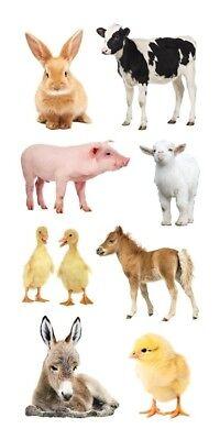 Scrapbooking Stickers PH Slim Baby Barnyard Animals Cow Pig Duck Chick Pony Lamb