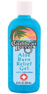 Caribbean Breeze Aloe Sun Burn Relief Gel Lotion w/ Lidocaine Beach soothes Tan