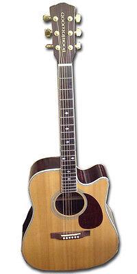 Nuevo Boorinwood Gama SDC130SE Semi Guitarra Acústica Natural con Oro Accesorios, usado segunda mano  Embacar hacia Spain