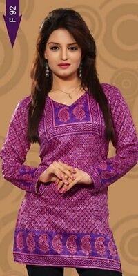 - Beautiful French Crepe Tunic/Indian Kurti/Kurta/Bohemian Women's Top  e-1026