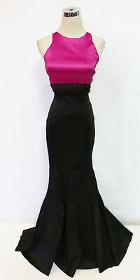 Windsor Black Fuchsia Prom Formal Evening Gown 5    85 Nwt