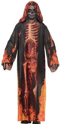 Underworld Robe Child Boys Costume Skeleton Halloween Dress Up Underwraps