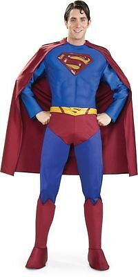 Superman Supreme Edition Muskel Brust Erwachsene Kostüm - Muskel Superman Kostüm