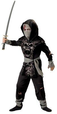 Dark Zombie Ninja Child Costume Karate Martial Arts Scary Theme Party Halloween