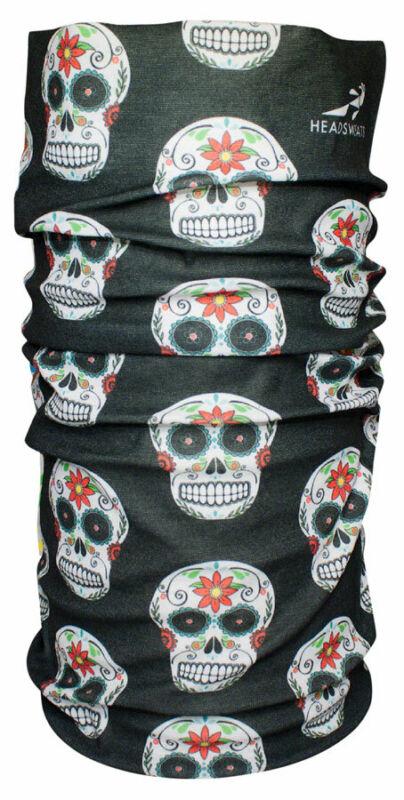 Headsweats Ultra Band Multi-Purpose Headband - Full, Black Skulls, One Size