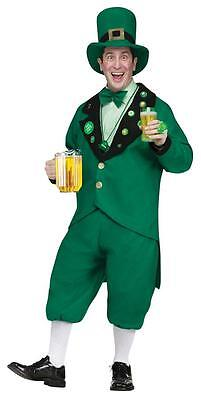 ADULT ST PAT PUB LEPRECHAUN FUNNY JACKET KNICKERS HAT & TIE 4 PC COSTUME - St Pat Pub Leprechaun Kostüm