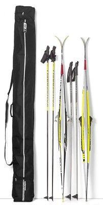 T-PRO Doppel Skitasche Skibag Skisack Skicover Tasche Langlauf Ski Schutz 210 cm