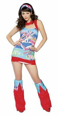 SEXY COSTUMES Womens RETRO DISCO NYMPH Hippie GROOVY 60s 70s Adult Cosplay M/L