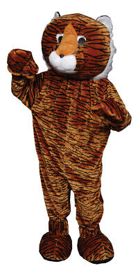 Tiger Mascot Adult Mens Costume Wild Animal Plush Halloween Party Grand Openings](Mens Tiger Costume Halloween)