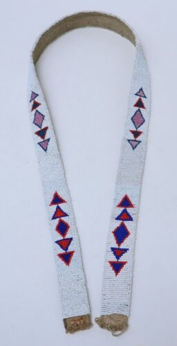 Antique Sioux Beaded Belt, Rosebud Reservation  Early 20th Century