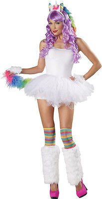 4 PC UNICORN COSTUME KIT HEADBAND EARS, TAIL, GLOVES LEG FURIES MR156194 - Unicorn Tail Costume