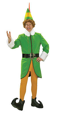 Buddy The Elf Costume Xl (SANTA BUDDY THE ELF DELUXE  ADULT MENS COSTUME Christmas  Holiday)