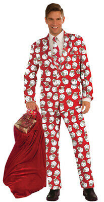 Weihnachtsmann Anzug und Krawatte Muster Kostüm Jacke Hose Sport Mantel
