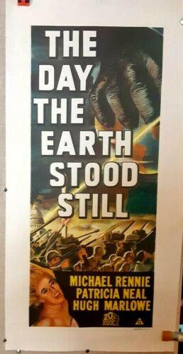 poster on linen Original DAY THE EARTH STOOD STILL AustraliaDaybill LINENBACKED