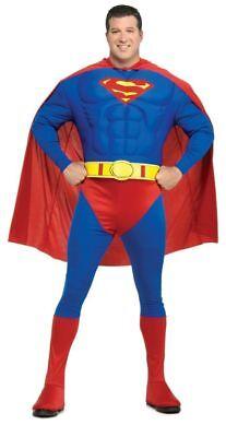 Supermann Muskulöse Brust Übergröße Erwachsene Kostüm Comicbuch Super - Super Übergröße Kostüm