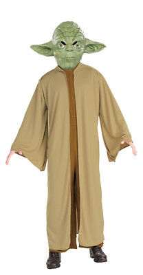 Yoda Adult Costume Master Jedi Jumpsuit Robe  Star Wars Movie Rubies Halloween - Jedi Master Halloween Costume
