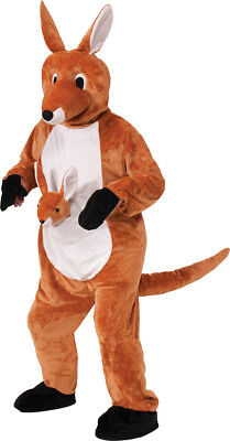 Kangaroo Jumping Jenny Mascot Child Costume Headpiece With Jumpsuit Halloween - Kangaroo Costume Halloween