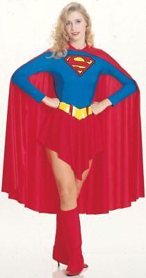 Damen Kostüm Rot & Blau Trikot Rock Kostüm Rubies (Erwachsenen Super Girl Kostüm)