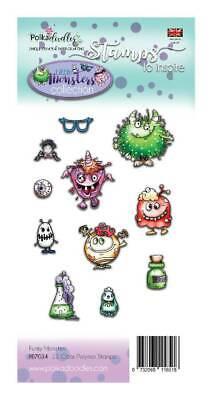Motiv-Stempel Clear Stamp Little Monsters Funky Spinne Auge Polkadoodles PD7034