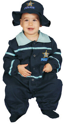 Baby Police Officer Bunting Child Costume Fancy Jumpsuit Dress Up America